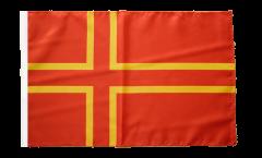 Bandiera Francia Normandia St. Olaf con orlo