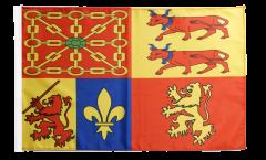 Bandiera Francia Pyrénées-Atlantiques con orlo