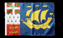 Bandiera Saint-Pierre e Miquelon con orlo