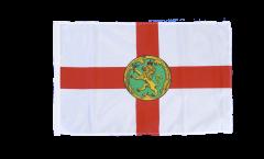 Bandiera Regno Unito Alderney con orlo