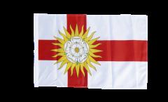 Bandiera Regno Unito Yorkshire West Riding con orlo