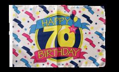 Bandiera Happy Birthday con orlo
