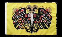Bandiera Sacro Romano Impero Germanico Aquila bicipite con orlo