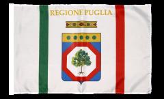 Bandiera Italia Puglia con orlo