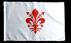 Bandiera Italia Firenze con orlo