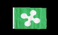 Bandiera Italia Lombardia con orlo