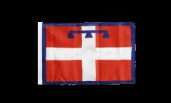 Bandiera Italia Piemonte con orlo