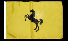 Bandiera Italia Provincia di Napoli con orlo