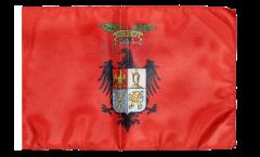 Bandiera Italia Provincia di Palermo con orlo