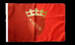Bandiera Italia Roma con orlo