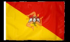 Bandiera Italia Sicilia con orlo