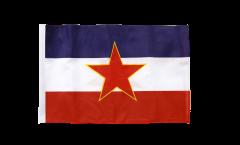 Bandiera Yugoslavia vecchia con orlo