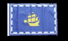 Bandiera Canada Quebec città con orlo