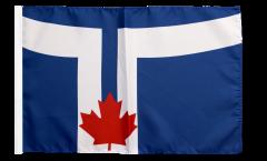 Bandiera Canada Toronto con orlo