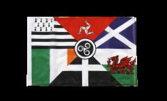 Bandiera Nazioni celtiche con orlo