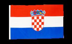 Bandiera Croazia con orlo