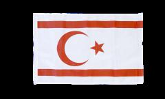 Bandiera Cipro del Nord con orlo