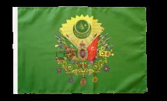 Bandiera Impero Ottomano stemma con orlo