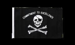 Bandiera Pirata Commitment to excellence con orlo