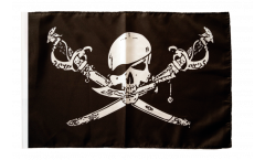 Bandiera Pirata con sciabola con orlo