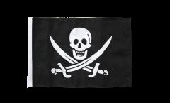 Bandiera Pirata con due spade con orlo