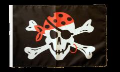 Bandiera Pirata one eyed Jack con orlo