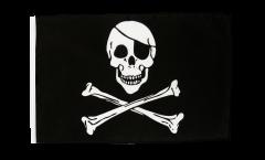 Bandiera Pirata Skull and Bones con orlo