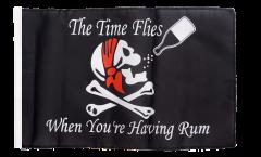 Bandiera Pirata The Time Flies When You are Having Rum con orlo