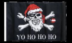 Bandiera Pirata Yo ho ho con orlo