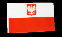 Bandiera Polonia con aquila con orlo