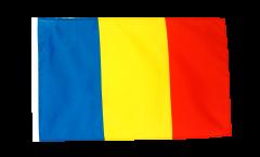Bandiera Romania con orlo