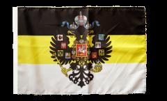 Bandiera Russia Romanow con stemmi 1858-1883 con orlo