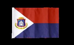 Bandiera Saint-Martin con orlo