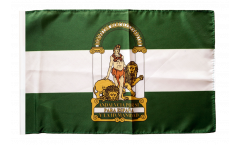 Bandiera Spagna Andalusia con orlo