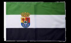 Bandiera Spagna Estremadura con orlo