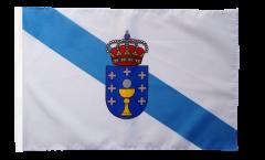 Bandiera Spagna Galizia con orlo