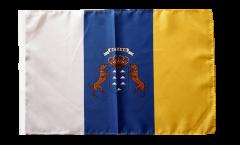 Bandiera Spagna Canarie con orlo