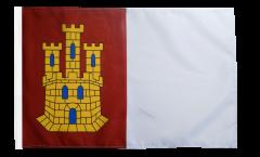 Bandiera Spagna Castiglia-La Mancia con orlo