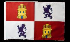 Bandiera Spagna Castiglia e Leon con orlo