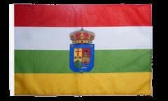 Bandiera Spagna La Rioja con orlo