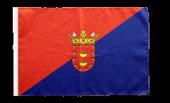 Bandiera Spagna Lanzarote con orlo
