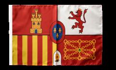 Bandiera Spagna reale con orlo
