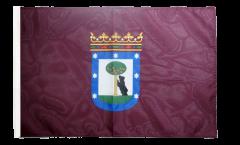 Bandiera Spagna Città di Madrid con orlo
