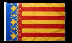Bandiera Spagna Comunità Valenciana con orlo