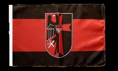 Bandiera Sudetenland con stemmi con orlo