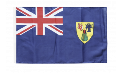Bandiera Turks e Caicos con orlo