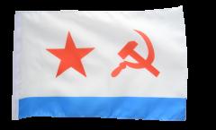 Bandiera URSS Voenno Morskoj Flot SSSR con orlo