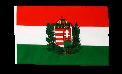 Bandiera Ungheria con stemmi con orlo