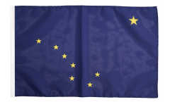 Bandiera USA Alaska con orlo