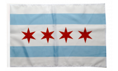 Bandiera USA City of Chicago con orlo